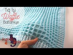 Today I will show you how to make an easy waffle baby blanket. Crochet Baby Blanket Free Pattern, Baby Afghan Crochet, Baby Knitting Patterns, Baby Patterns, Crochet Stitches, Crocheting Patterns, Free Crochet, Crochet Pattern, Crochet Waffle Stitch