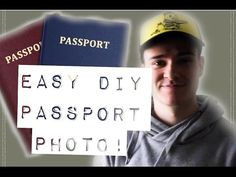 How To Take Your Own Passport Photo! #DIY #PassportPhoto #DIYPassportPhoto
