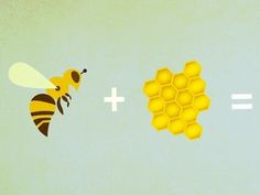 Bees + Hive by Peter McEwen  dribbble.com