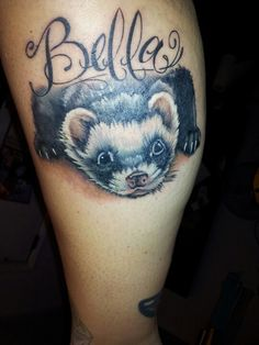 ferret tattoo done by Shannon. Love it!!