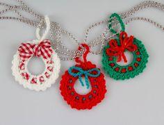 Christmas Crochet Wreath Crochet Pattern Crochet Wreath Brooch Christmas Decorations Christmas Ornaments Mini Wreath Ornament PDF, – Top Of The World Crochet Christmas Wreath, Crochet Wreath, Christmas Ornament Wreath, Christmas Crochet Patterns, Christmas Wreaths, Christmas Crafts, Christmas Decorations, Crochet Ornaments, Tree Decorations