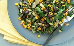 Pan-Toasted Sweet Corn with Wilted Chard and Black Beans