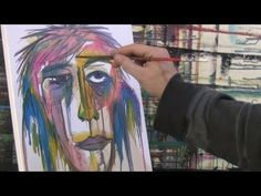 How to Paint with Acrylic Paint Tutorial how to paint ABSTRACT FACES