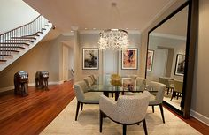 Contemporary-beige-dining-room