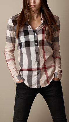 Check Cotton Shirt | Burberry