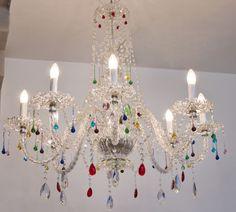 lampara cristal colores