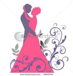 Wedding Silhouette Clipart Bride And Groom Illustration Jpeg Jpg ...