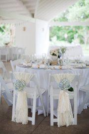 Hydrangea chair decorations
