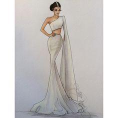 "348 Likes, 2 Comments - Karen Orr (@karenorrillustration) on Instagram: ""Details...of Lindsay- @lnlundberg @allurebridals #details #bridalillustration  For illustration…"""