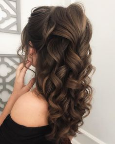 Quince Hairstyles, Wedding Hairstyles For Long Hair, Bride Hairstyles, Down Hairstyles, Long Brown Hairstyles, Volume Hairstyles, Best Hairstyles, Updo Hairstyle, Hairstyle Ideas
