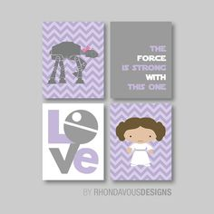 Star Wars Princess Love Quad - Princess Leia. At At Walker. The Force. Cute…