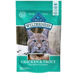 Blue Wilderness Chicken & Trout soft-moist cat treats are the perfect way to cater to your feline's inner carnivore. Loaded with real chicken and trout, these soft-moist treats have the flavor your cat craves. Blue Wilderness cat treats are: Healthy Corn, Healthy Cat Treats, Buffalo Chicken, Chicken Recipes Dry, Moist Chicken, Trout Recipes, Dry Cat Food, Pet Food