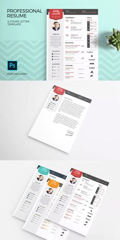 Resume and cover letter template indesign indd editable in professional resume template cover letter psd spiritdancerdesigns Gallery