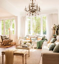 warm and cozy farmhouse style living room décor ideas - Roomaintenance Home Living Room, Living Room Designs, Living Room Decor, Living Spaces, Cottage Style, Farmhouse Style, Comfortable Couch, New Furniture, Beautiful Interiors