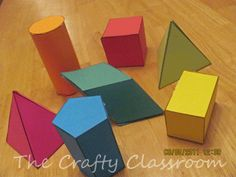 Make Your Own Geo Shapes! Make your own shapes Make Your Own, Make It Yourself, How To Make, Mathematical Model, Teaching Math, Maths, A4 Paper, 3d Shapes, Math Classroom