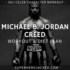 Michael B. Jordan Workout and Diet [Updated]: Train like Killmonger! Weight Training Programs, Weight Training Workouts, Boxing Training, Workout Programs, Workout Diet Plan, Workout Guide, Post Workout, 300 Workout, Michael B Jordan