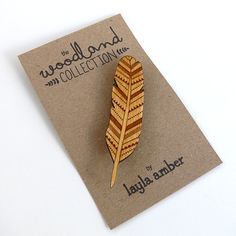 Part of my Woodland Collection, this wonderful feather brooch has been designed by me and intricately laser cut in 3mm birch wood. Looks so cute on a