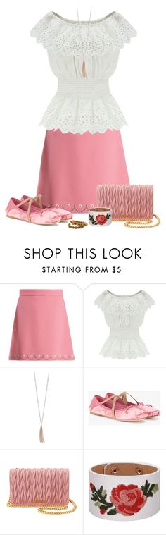 """""""Blithe Spirit"""" by asigworth ❤ liked on Polyvore featuring Miu Miu, WithChic, LC Lauren Conrad and Lalaounis"""