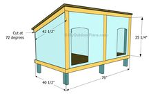 This step by step diy woodworking project is about double dog house plans. Building a large dog house for your pets is a complex project that requires a proper planning. Double Dog House, Large Dog House Plans, Dog Houses, Play Houses, Grande Niche, Wooden Dog Kennels, Dog Kennel Cover, Wooden Playhouse, Dog Rooms