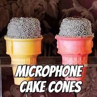 Microphone Cake Cones