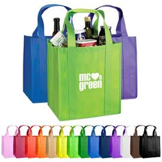 The Custom Atlas Nonwoven Grocery Tote makes a great way to cut down on plastic bags and use the same promotional tote each trip to the grocery store. recipients will use this tote bag for years to come, all while showcasing your custom logo or brand design to the rest of the shoppers!  Super Strong 80 GSM Material! 20″ Reinforced Handles Covered Bottom Insert
