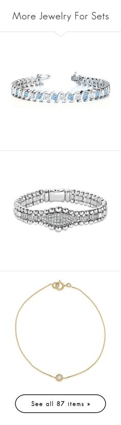 """""""More Jewelry For Sets"""" by mikahelaine ❤ liked on Polyvore featuring jewelry, bracelets, white gold jewelry, 14k bangle, aquamarine jewellery, aquamarine jewelry, 14 karat gold bangles, sparkle jewelry, beading jewelry and beads jewellery"""