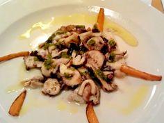 Octopus with pesto sauce @ Il Pavone Restaurant, Alghero