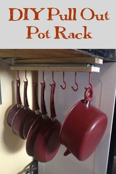 under the counter pull out pots and pans rack