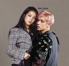 Love Couple, Couple Goals, Minding My Own Business, Bts Girl, Kpop Couples, Blood Sweat And Tears, Blackpink And Bts, Just Pretend, Korean Couple