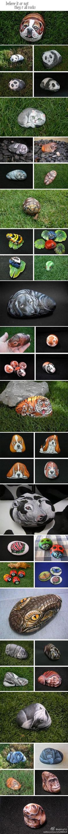 50 Best Rock Painting Ideas, Weapon to Wreck Your Boring Time Rock painting ideas: Roundup of 30 painting ideas for kids and adults.Rock painting ideas: Roundup of 30 painting ideas for kids and adults. Pebble Painting, Tole Painting, Pebble Art, Stone Crafts, Rock Crafts, Pebble Stone, Stone Art, Posca Art, Hand Painted Rocks