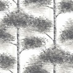 Buy John Lewis Retreat Wallpaper, Monochrome Online at johnlewis.com