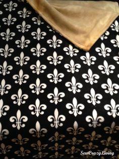 Must have for #Saints & #MardiGras Season! Custom Fleur de Lis Fleece Blanket by SewCrazyLiving on Etsy, $80.00