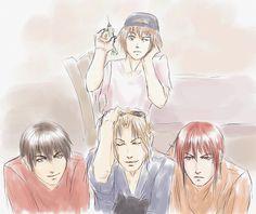 Drawn by error256 ...  ken hidaka, omi tsukiyono, ran fujimiya, weiss kreuz, youji 'yohji' kudou
