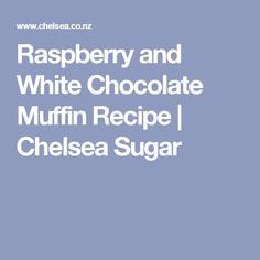 Raspberry and White Chocolate Muffin Recipe | Chelsea Sugar