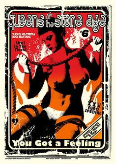 Jacknife Design — Queens of the Stone Age #qotsa poster Paris