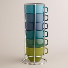 Cool Ombre Stacking Mugs, Set of 6 - World Market from Cost Plus World Market. Shop more products from Cost Plus World Market on Wanelo. Mugs Set, Tea Mugs, Soup Mugs, Coffee Mugs, Kitchenware, Tableware, World Market, Cupping Set, Mug Cup