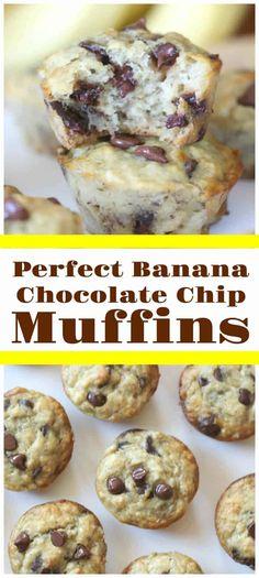 Fun Desserts, Dessert Recipes, Cake Recipes, Yummy Recipes, Banana Recipes, Simple Recipes, Muffin Recipes, Dessert Ideas, Delicious Desserts