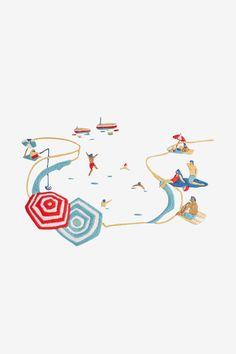 The Bay - pattern - Free Embroidery Patterns - DMC Bat Pattern, Poppy Pattern, Flamingo Pattern, Free Pattern, Baby Girl Patterns, Bird Patterns, Star Patterns, Cross Stitch Patterns, Maneki Neko