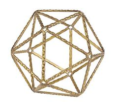$19.99 Angular effects and an airy feel make this small metal geometric shaped ball a perfect accent for a table arrangement.