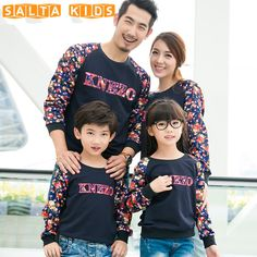 1pc Family Matching Clothes Father Son Mother Daughter Sweatshirts Outfits Long Sleeve Cartoon Sweatshirts Clothes 1pc A33