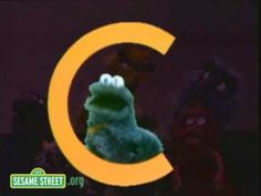 Sesame Street Letter C sound and words that begin with C