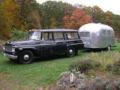 International Travelall and Airstream trailer