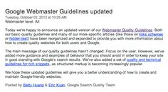 #Google announced an updated version of #Webmaster Quality Guidelines  which will help webmasters and #website owners to take care of basic  quality guidelines and protect from #algorithm filters.  @MegriSoft @Submit Shop  @Aprajita Kohli
