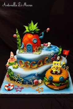 SpongeBOB!!! This is one awesome cake!