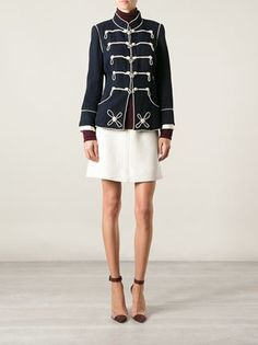 Chanel Vintage Military Style Pearl Embroidered Jacket - - Farfetch.com