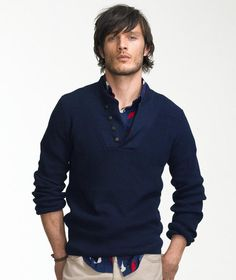 I like this style for men. Rugged, messy cool.    #Men #fashion #Style #clothing
