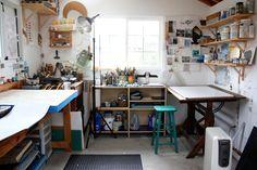 Lisa Kairos Encaustic Painter Studio