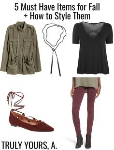 Truly Yours, A.: 5 Must Have Pieces for Fall + How to Style Them!