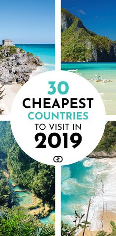 Are you planning your next trip? Find out the top 30 cheapest countries to visit in 2019! You can also find tips on how to travel on a budget to these destinations. Tips on average hotel, hostel, food cost and transportation and daily suggested budget for vacations. #travelhacks #cheaptravel #budgettravel #cheapdestinations #travel #travelonabudget #traveldestinations