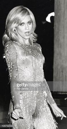 Olivia Newton John during Taping of 'Hollywood Nights' with Olivia NewtonJohn and Andy Gibb at ABC Entertainment Center in Los Angeles California...